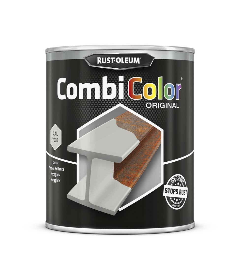 RUST-OLEUM 7381.0.75 Combicolor Original, Superior Metal Protection, Direct To Rust, Light grey-RAL 7035