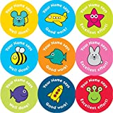 37mm personalised reward stickers: '*Your Name* says' with mixed images and captions. 4 sheets, 140 stickers (please see below about leaving your name).