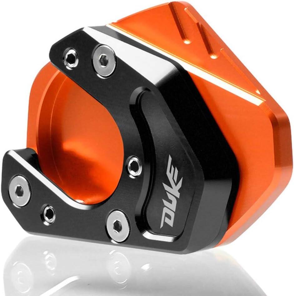Color : Black Black Anhuidsb CNC Aluminium Motorrad Seitenst/änder Vergr/ö/ßern St/änderverl/ängerung Platte Auflage for KTM Duke 125 200 390 690 RC125 RC200 RC390 950 anhuidsb