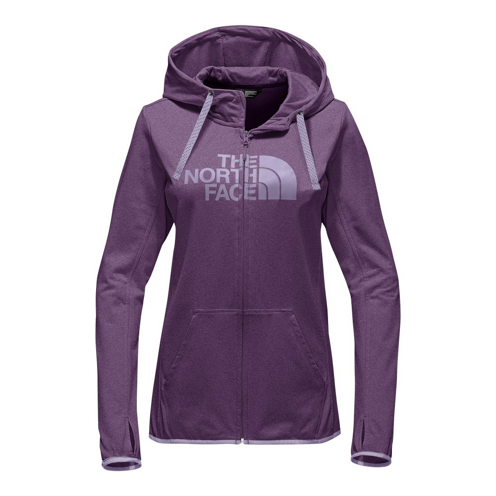 The North Face Women's Fave Lite Half Dome Full Zip Hoodie Wood Violet Heather/Lavender Blue XL