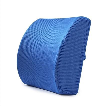cojin para lumbares, CONMNIG Memoria de algodón almohadilla lumbar inferior de alivio de dolor de espalda Cojín asiento silla de auto apoyo la postura ...
