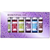 Confezione da 6/12/24 oli essenziali solubili in acqua, diffusori con ingredienti biologici per aromaterapia, set regalo per spa, yoga, riduzione dello stress, purificazione dell'aria 6