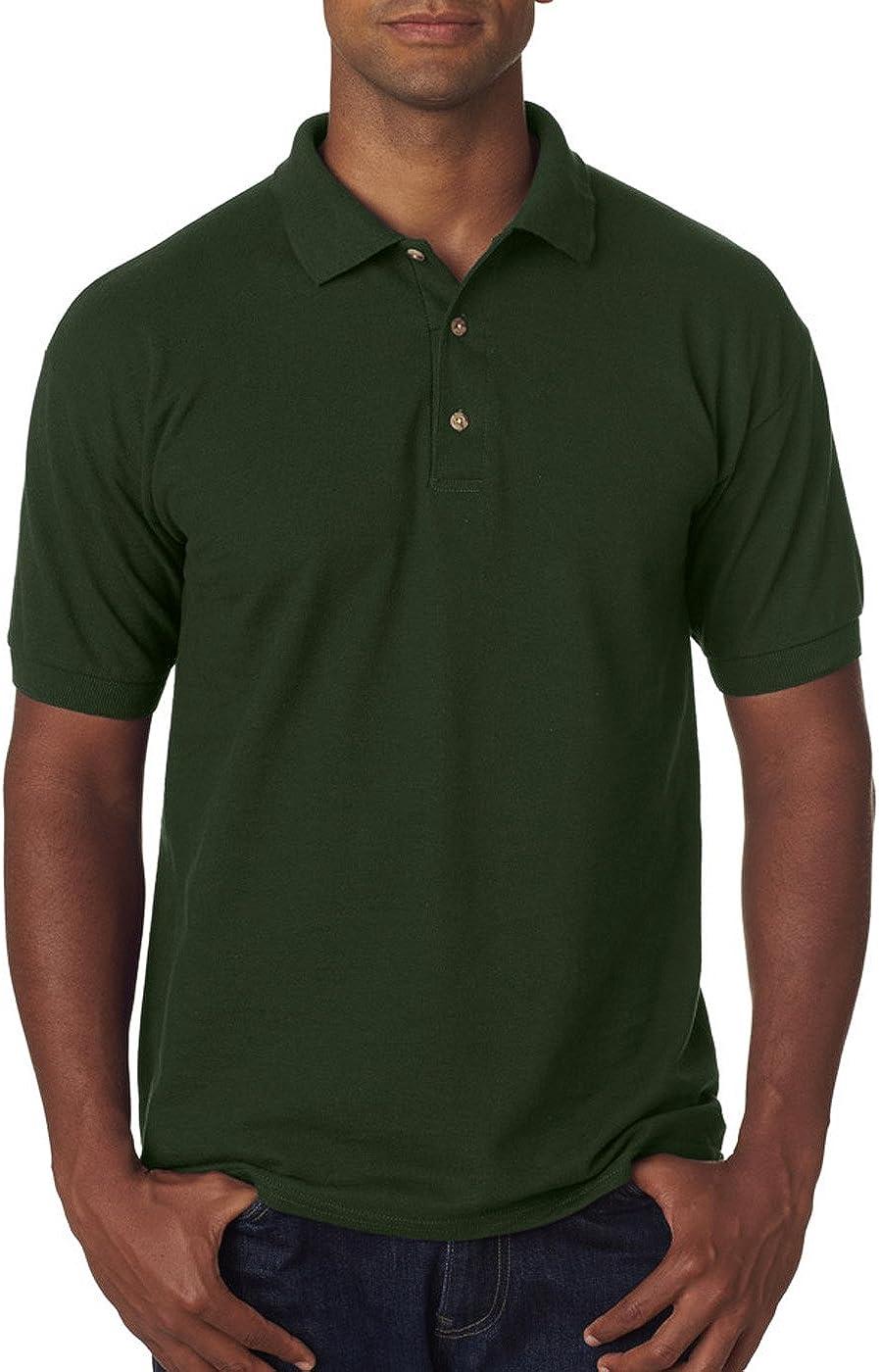 L Pique Polo Forest Green Pack of 12 Gildan Ultra Cotton 6.5 oz G380