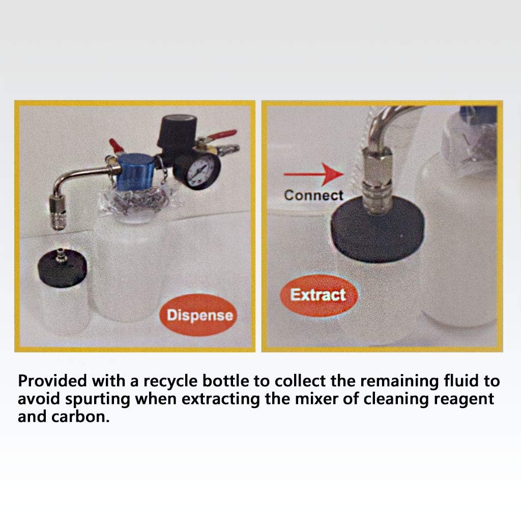 FIRSTINFO 3 in 1 Air/Pneumatic Engine Intake System Carbon Washing Kit Engine Combustor System by FIRSTINFO TOOLS FIT YOUR NEEDS (Image #5)