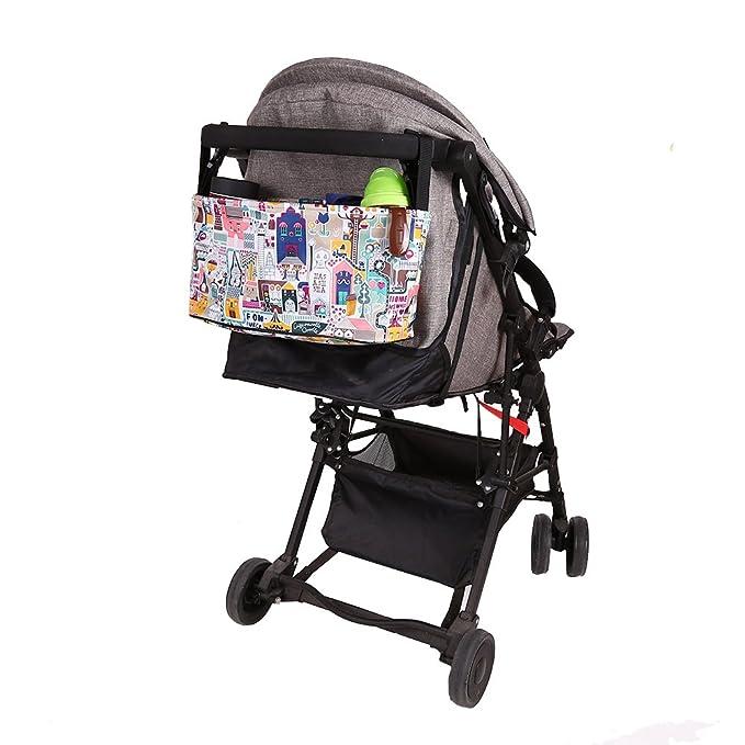 Blaward Bolso Carro Bebe/Bolsa Organizadora para Cochecito o Silla de Paseo/Bebé Bolso del Carro - Bolsa Multifuncional para Carrito de Bebé Dibujos ...