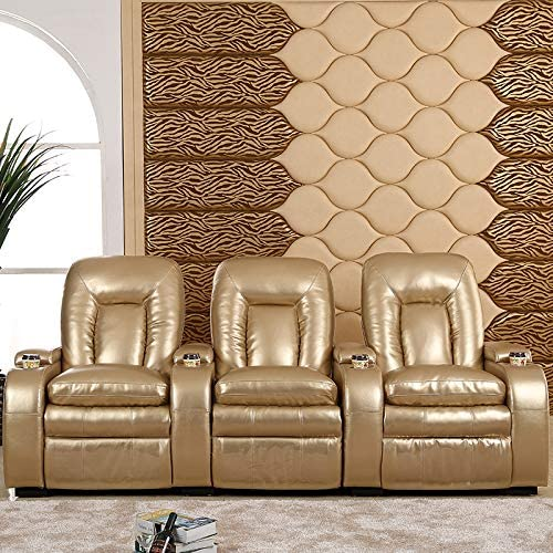 Sofa Bed Home Theater Sofa Combination Leather First-Class Space Electric Cabin First-Class Massage Multifunctional Private Audio-Visual Room