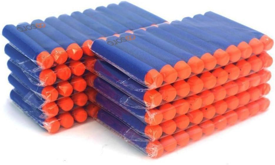 Dardos de espuma de COCOSO, para pistola de juguete de Nerf de la serie de élite N-Strike, de 7,2cm, color azul