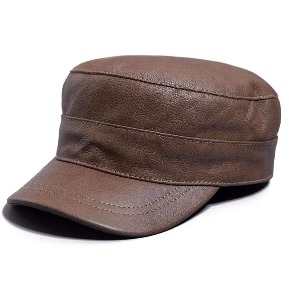 QIER-PM Flache Hutmütze der warmen Hutkappe des Mannfrauenwinterlederhutes im Freien