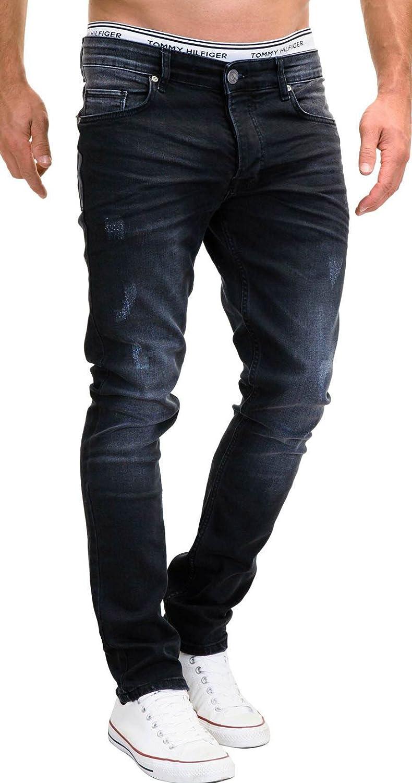 Merish 5-Pocket Denim Jeans Herren Slim Fit Used Design Modell J9156