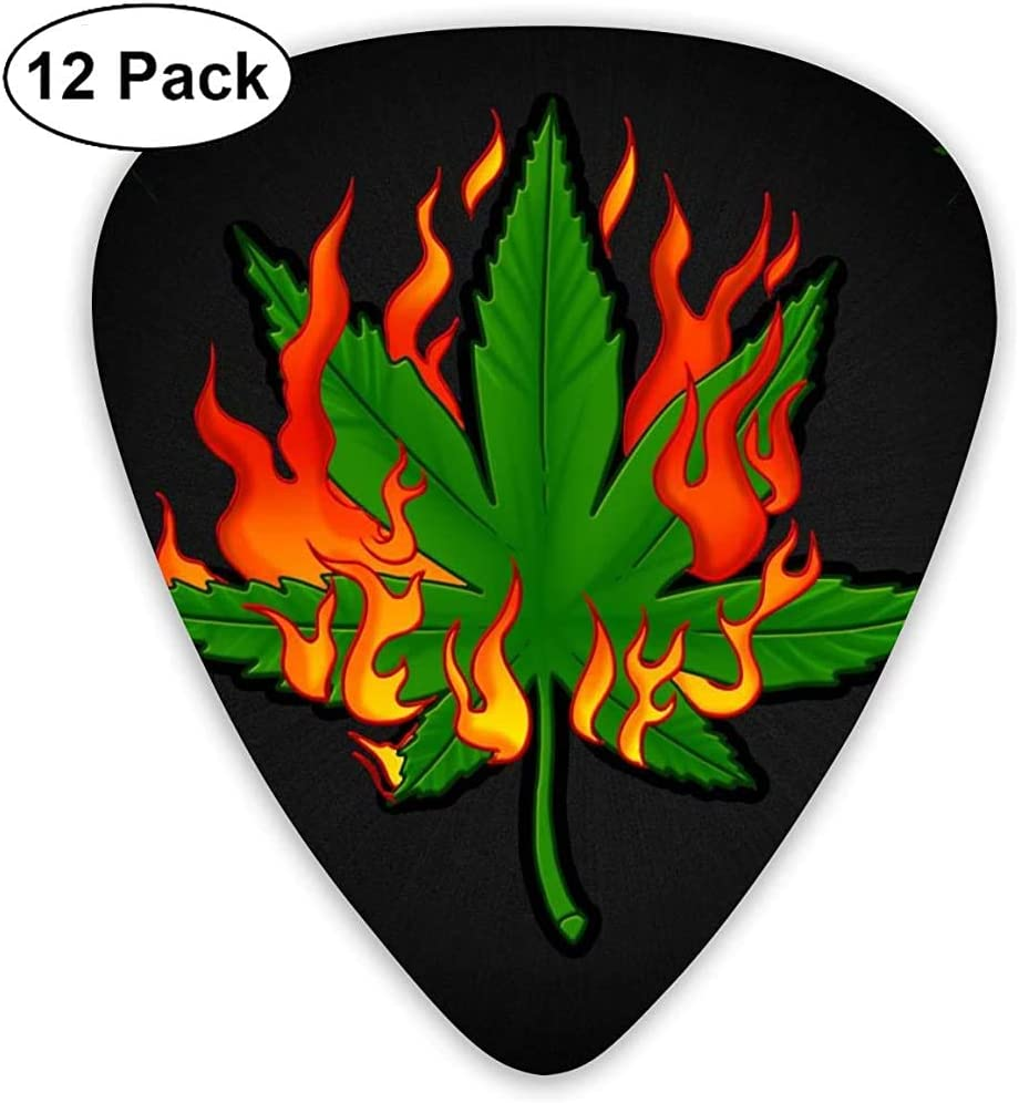 Púas de guitarra clásica Instrumento de pianos de marihuana ardientes