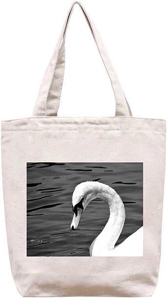 Cisne potable – algodón Canvas Tote Bag: Amazon.es: Hogar