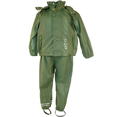 fe5e8d8c1a84 Kids Waterproof Suit - Childrens Jacket and Dungarees Rain Set ...