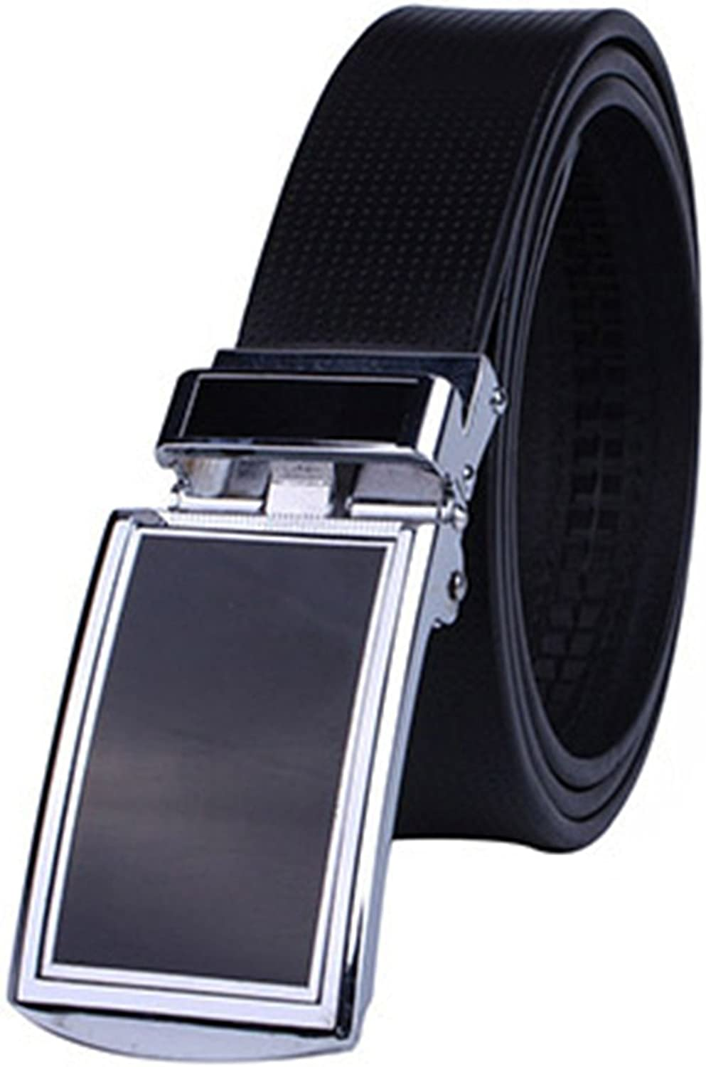 LOKOUO Fashion?NEW New Automatic Men Belt Leather With Brown Strap Men Belts Designers And Customization 3.2cm Width