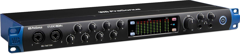 PreSonus Studio 1824c 18x20, 192 kHz, USB-C Audio Interface, 8 Mic Pres-10 Line Outs-ADAT