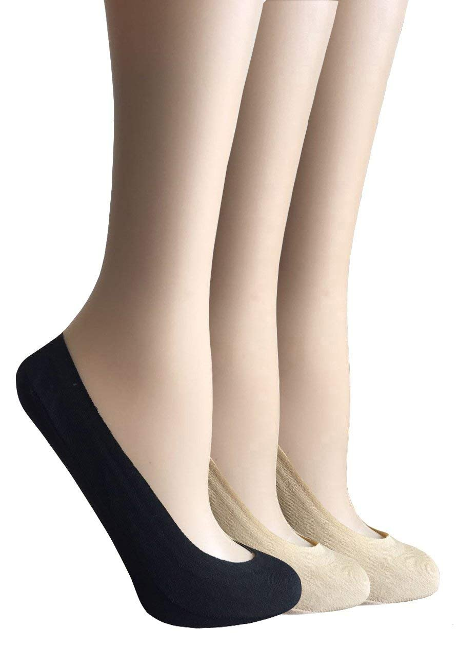 CAcB sox Women's Cotton No Show Liner Socks