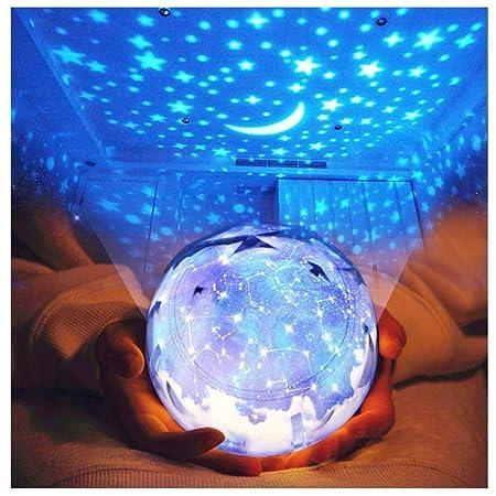 ZHANG Lampara Proyector Infantil,Lámpara Infantil, 360 ° Girar ...