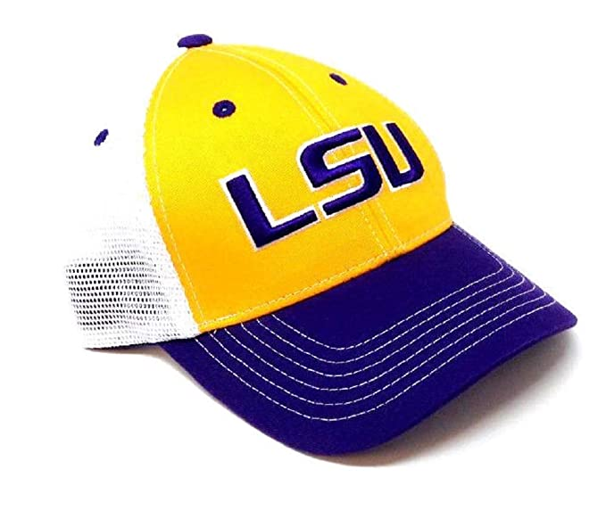 a41cf242909 NCAA Eliminator Mesh Trucker Snapback (Louisiana State University - Tigers)