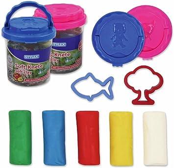 Stylex 5 barras – 5 colores Soft de plastilina en práctica caja: Amazon.es: Electrónica