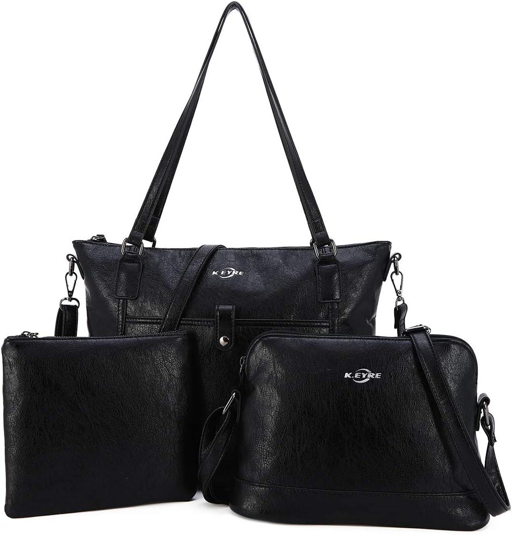 Women Shoulder Handbag Purse Top-Handle Hobo Roomy Casua Ladies' Shoulder Bag Fashion PU Tote Satchel Bag for Women (1A-KL2226#687#1BLACK)