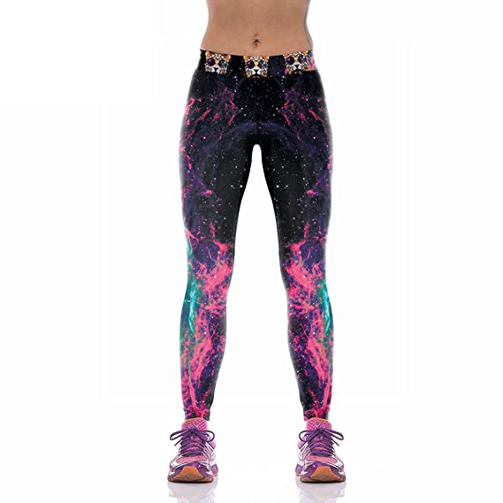 vraiment pas cher clair et distinctif plusieurs couleurs Jiayiqi Femmes Sport Leggings Haute Taille Cartoon Serré Leggings