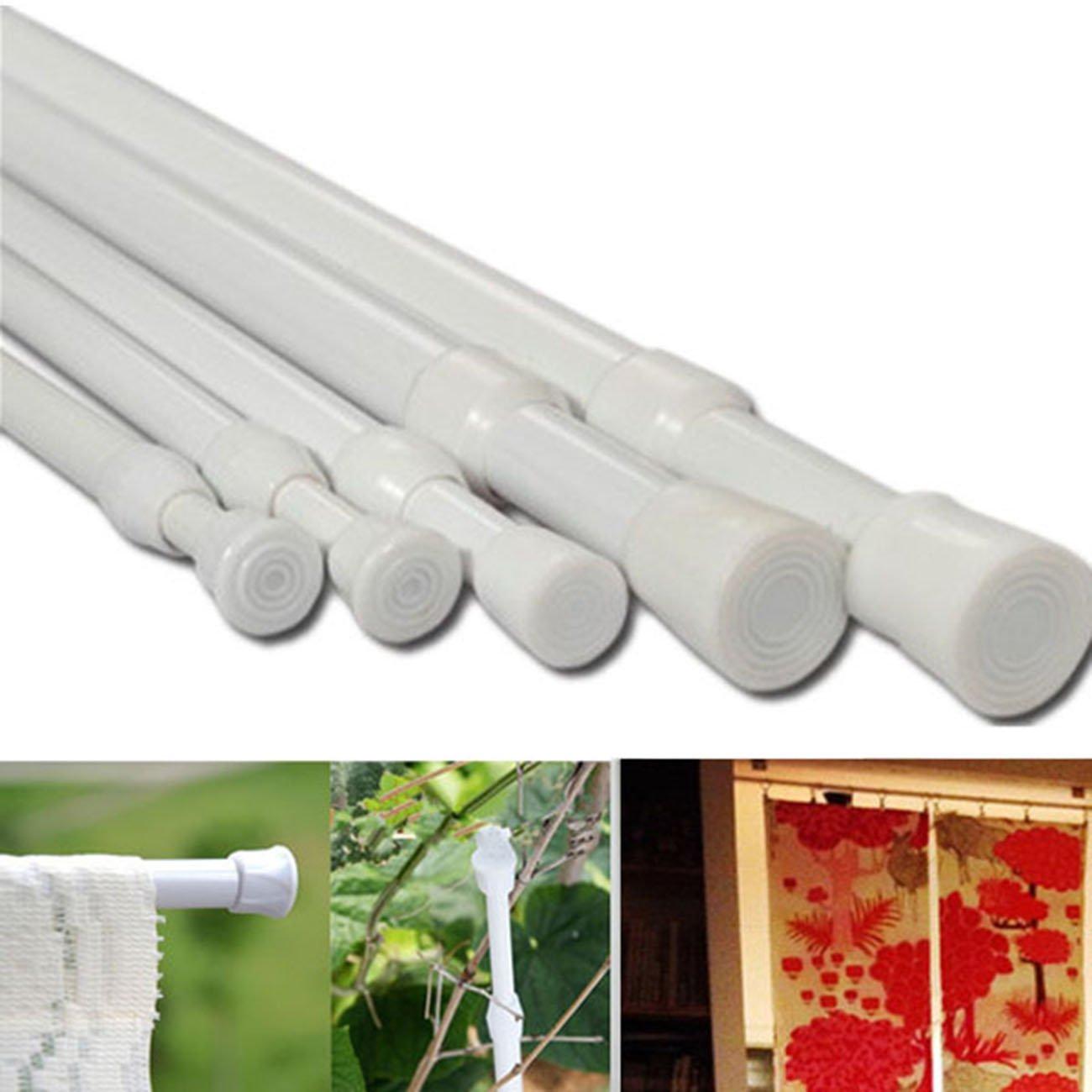 27-49''/70-124cm Extendable Window Curtain Telescopic Pole Shower Curtain Rod