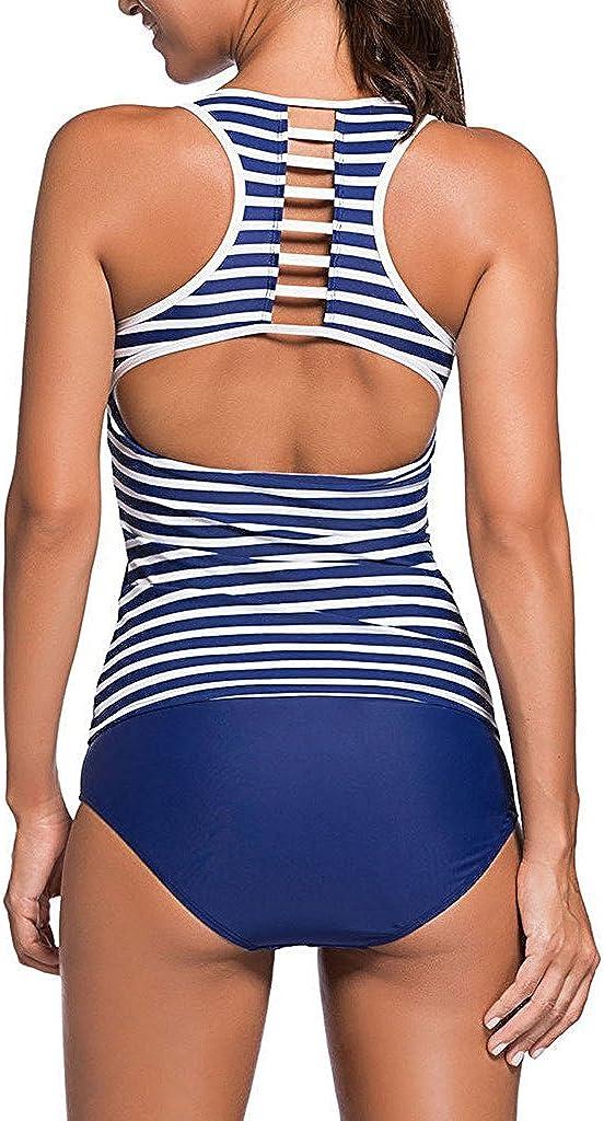 Juliarode Womens Racerback Tankini Set with Boyshort Two Piece Swimsuit