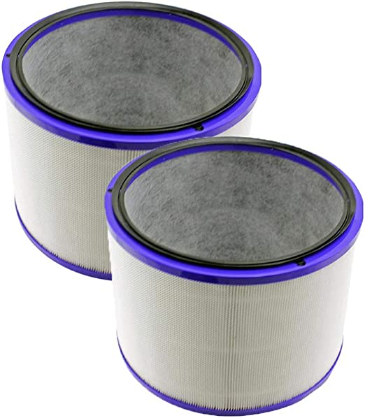 HomeDecTime 2 Unids Filtro Hepa para Dyson Dp01 Hp02 Puro Cool ...