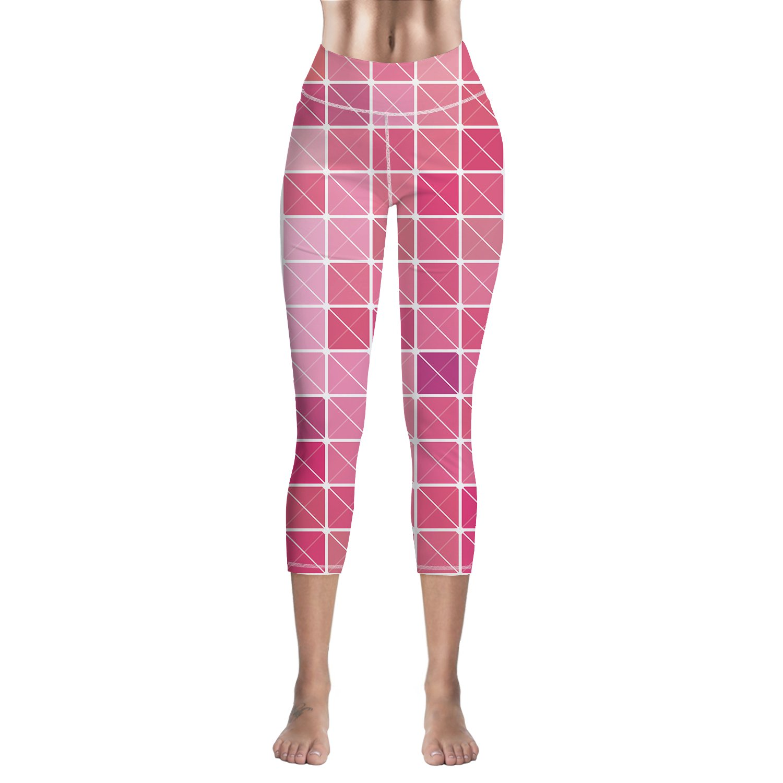 amazon com sodika women\u0027s yoga pants high waist sport workoutamazon com sodika women\u0027s yoga pants high waist sport workout running leggings tights pink plaid clothing