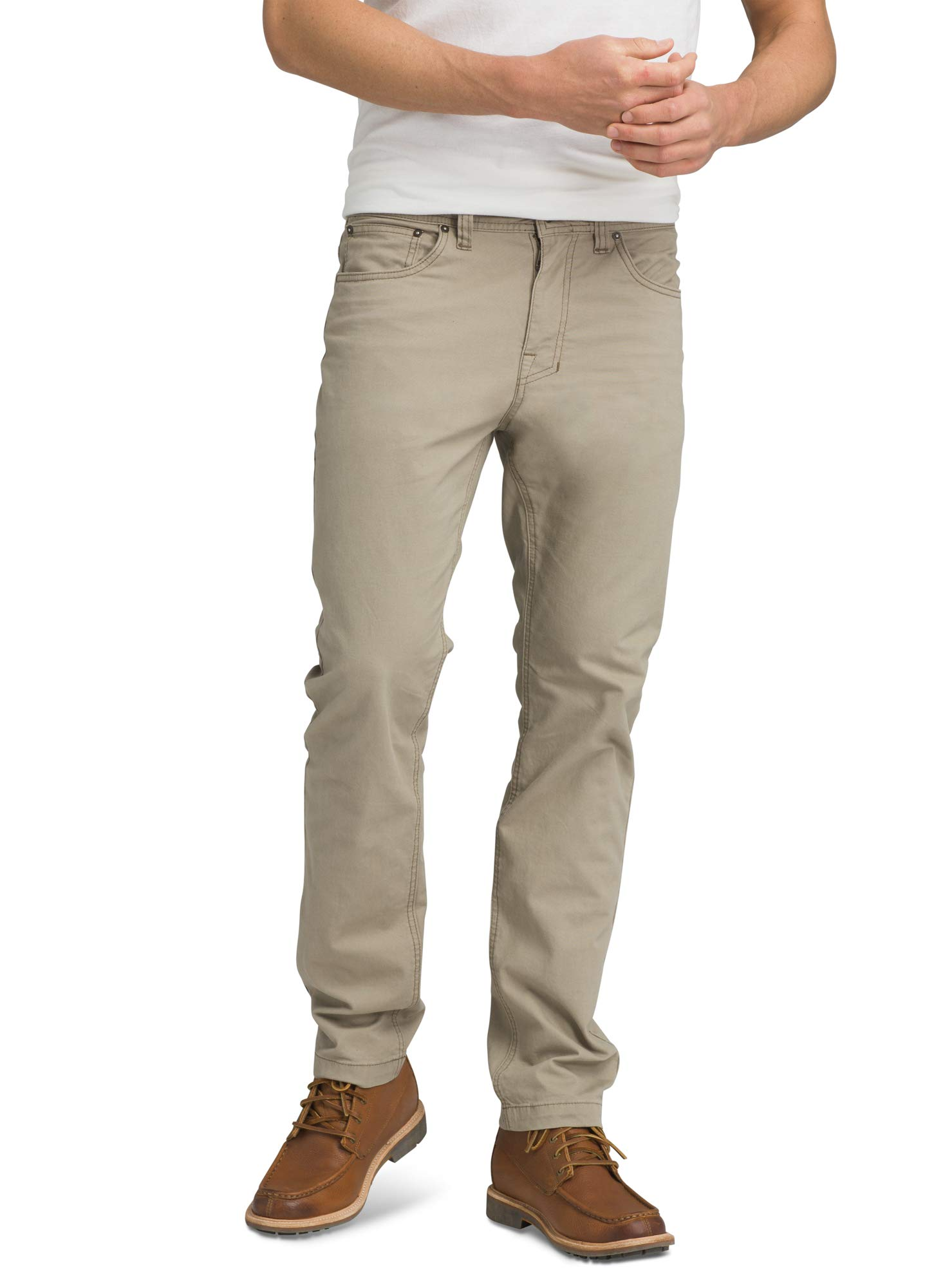 prAna - Men's Brion Lightweight, Breathable, Wrinkle-Resistant Stretch Pants for Hiking and Everyday Wear, 30'' Inseam, Dark Khaki, 33 by prAna