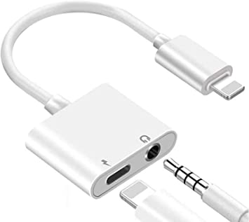 Amazon Com Apple Mfi Certified For Iphone 3 5mm Headphone Adapter Splitter 2 In 1 Lightning To 3 5mm Aux Audio Headphone Charger For Iphone 11 Xs Xr X 8 7 6 Ipad Ipod Support Call Sync