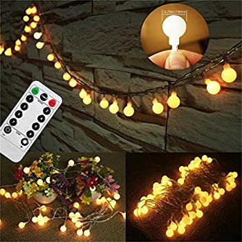 Amazon amars safe voltage bedroom string led curtain lights updated version 33 feet 80leds bedroom globe string led lights battery powered with remote timer outdoor indoor decorations lighting for garden party mozeypictures Gallery