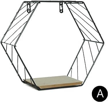 Sechseckiges Gitter-Wandlagerregal Schwimmende Wandregale Figure Bedroom