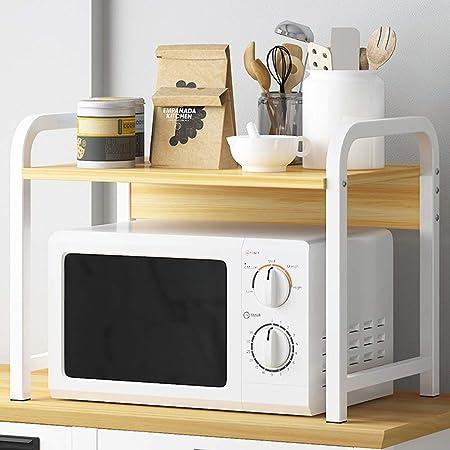 Wmeat-S Estantería de Cocina, Soporte para Microondas, para Mini Horno, Especias, Multi-función Utensilios de Cocina (Size : G): Amazon.es: Hogar