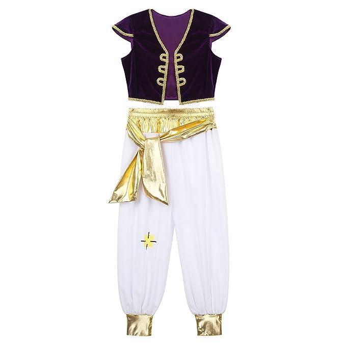 dPois Traje de Princípe Árabe para Niño Disfraz Halloween ...