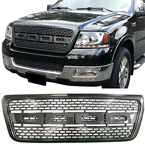 2004-2008 Ford F150 Raptor Style Front Bumper Grille Hood Mesh - Carbon Fiber Look Amazon$ ()