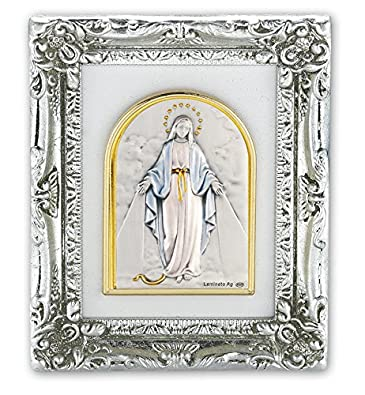 Amazon.com: Silver and Gold Leaf Resin Frames with Sterling Italian ...
