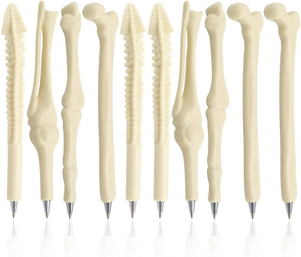 MagicW Creative Novelty Bone Shape Ballpoint Pens Finger Pen Nurse Doctor Pen Stationery Gift Crazy Student Gift Pack of 5