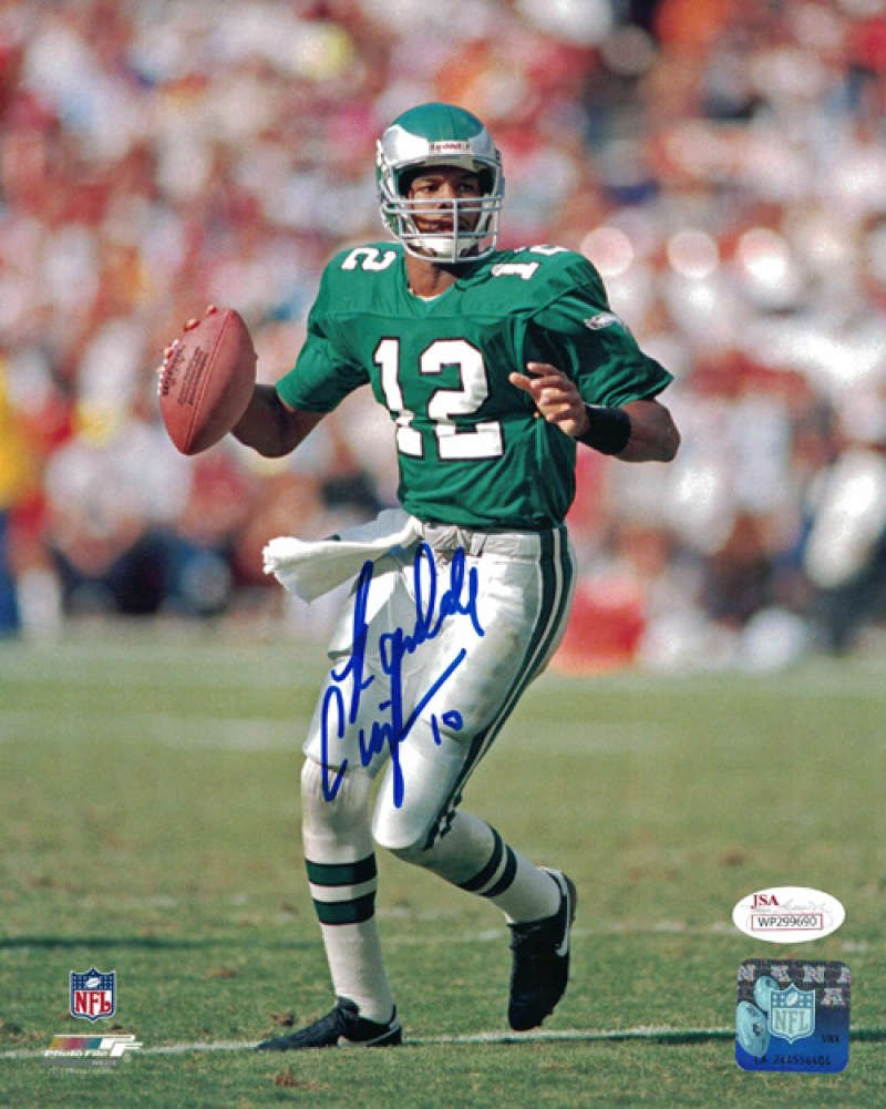 Randall Cunningham Autographed Philadelphia Eagles 8x10 Photo Solo JSA