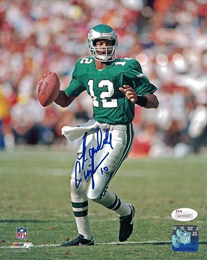 fe16c187b Randall Cunningham Autographed Philadelphia Eagles 8x10 Photo Solo ...
