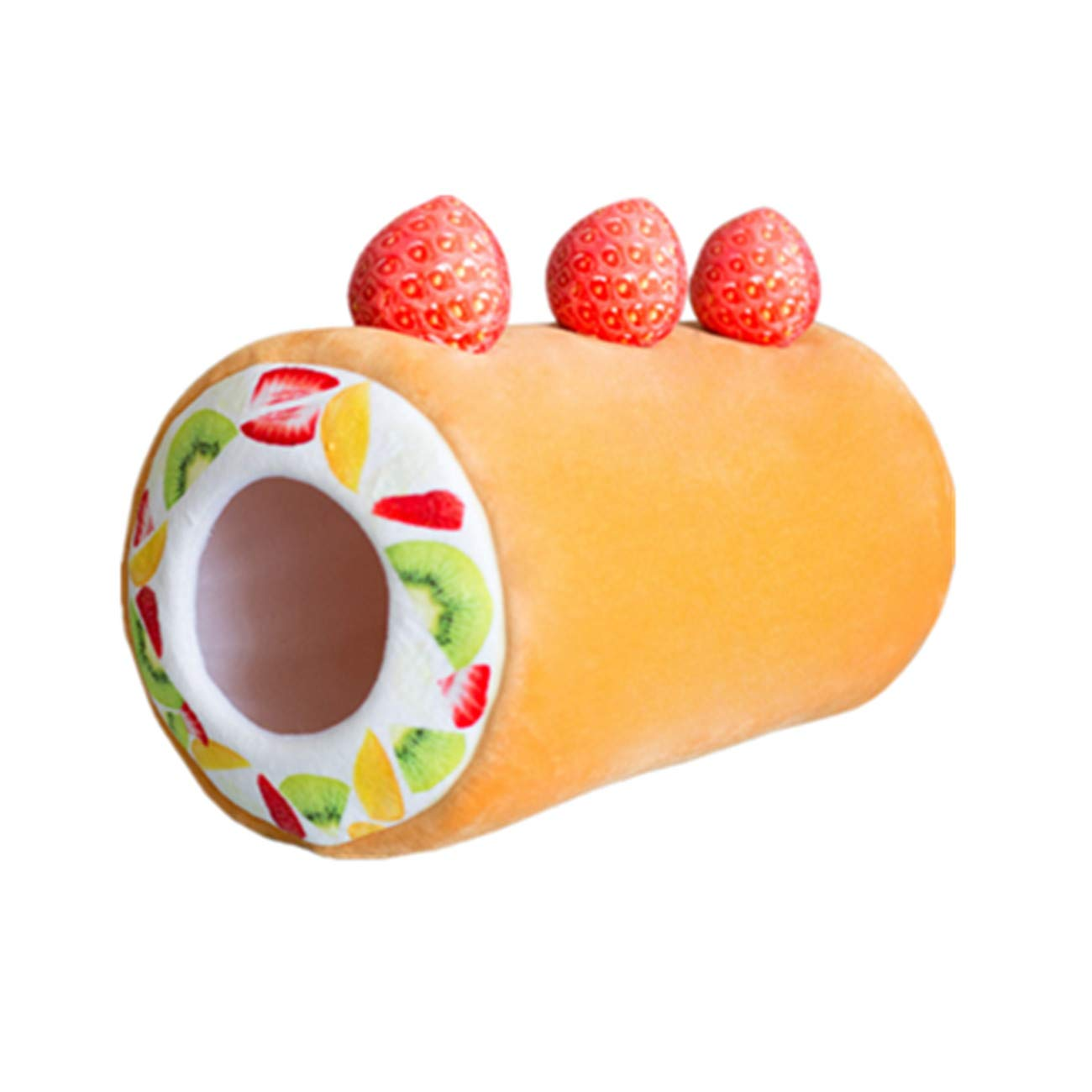 Egg Roll Pet Dog Creative Sleeping Mat Fruit Tart Egg Roll Kennel Comfortable House(Egg Roll)