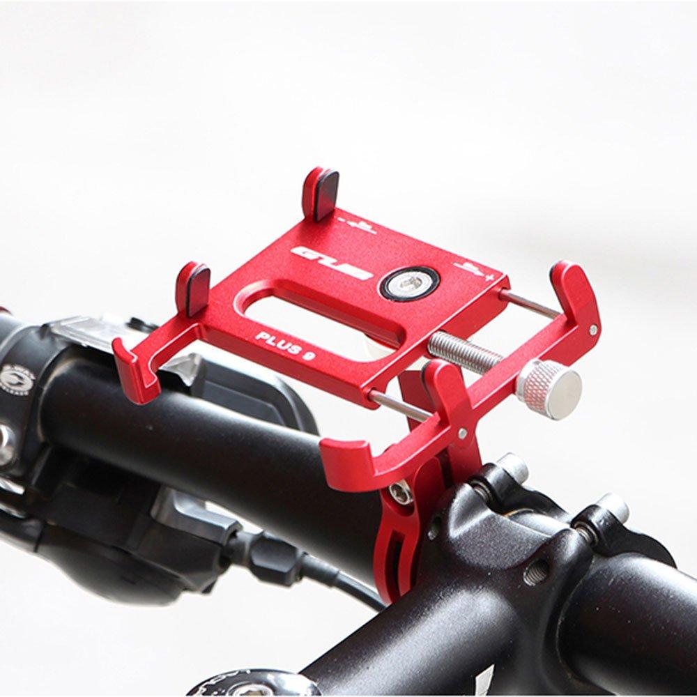 MMRMアルミ合金自転車バイク電話ホルダーブラケットフィット31.8 MMハンドルバー3.5 – 6.2インチのスマートフォン電話 B07DLVRJKX レッド レッド