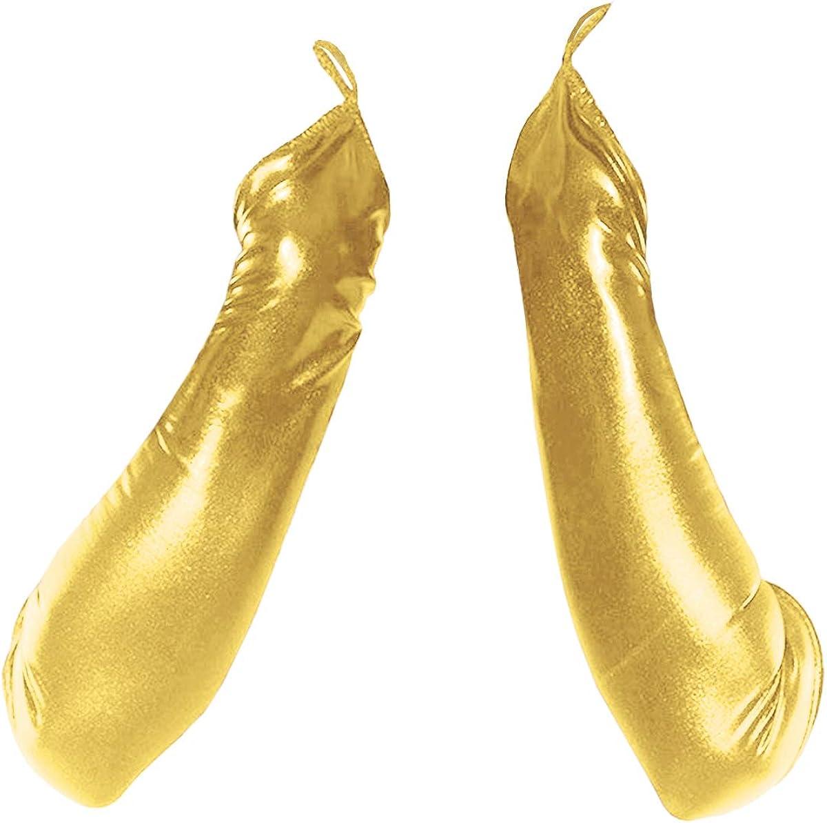 La moriposa Women Sexy Long Fingerless Gloves Wet Look