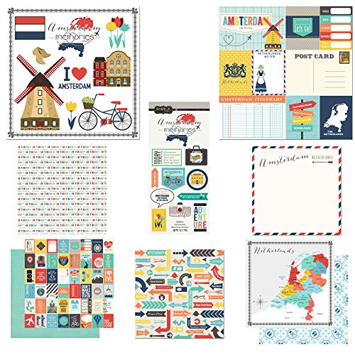 Scrapbook Customs Themed Paper and Stickers Scrapbook Kit, Amsterdam City Memories