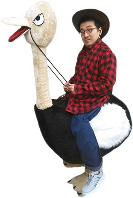 Personas de la avestruz Ride Mascot Cartoon Disfraz langteng Real ...