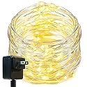 Oak Leaf LED String Lights,33 ft 100 LEDs Starry Decorative Lights for Bedroom,Wedding,Patio,Gate,Party,UL Certified 3V Power Adapter,Warm White