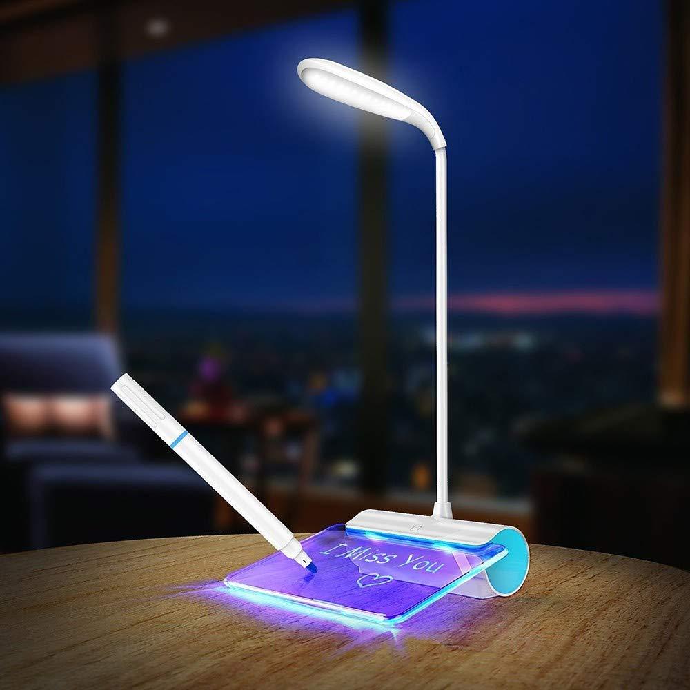 VOVOVO Lámpara de Mesa LED LED LED Protección para los Ojos USB Recargable Lámpara de Escritorio Interruptor táctil Interruptor de Lectura Luz de Mensaje Luz de Modo 3 Atenuación 390c24