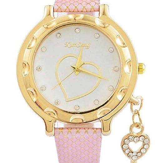 Relojes de Cuarzo para Mujer Rhinestone Love Heart Analog Fashion Liquidación Lady Relojes Mujer Relojes Relojes