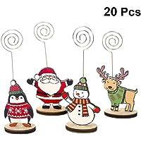 LIOOBO 20 Piezas Navidad Soporte De Tarjeta Nota
