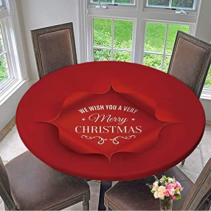 Amazon Com Mikihome Round Table Tablecloth Merry Christmas Greeting