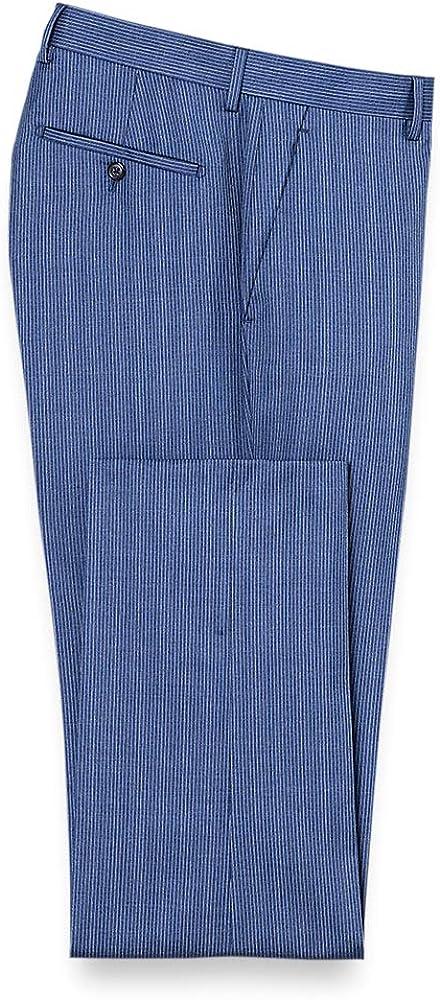 1920s Men's Pants, Trousers, Plus Fours, Knickers Paul Fredrick Mens Italian Wool Stripe Flat Front Suit Pant $125.00 AT vintagedancer.com